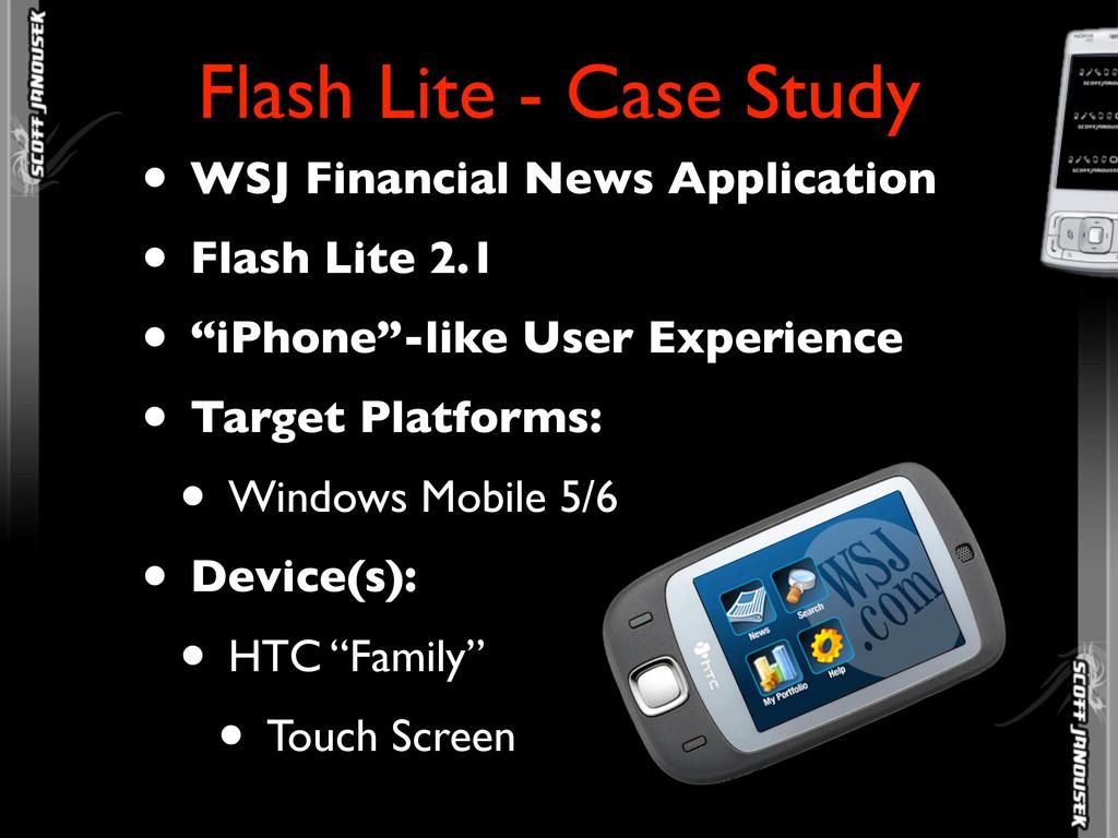 • WSJ Financial News Application • Flash Lite 2...