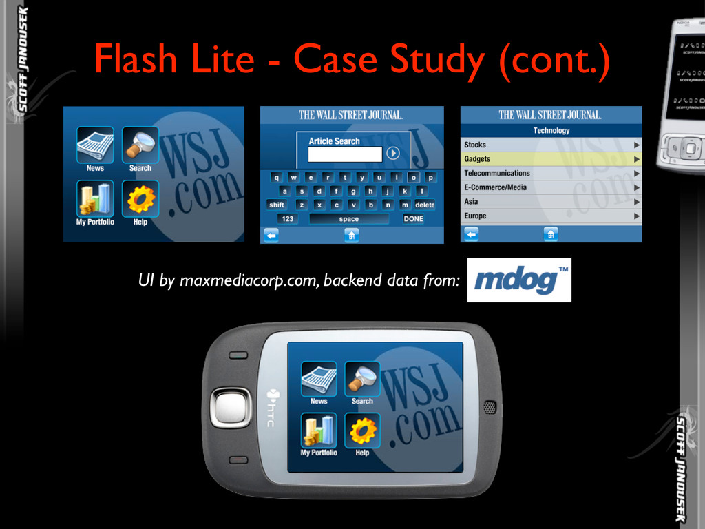 Flash Lite - Case Study (cont.) UI by maxmediac...