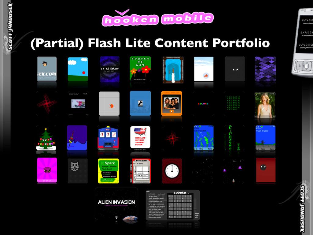 (Partial) Flash Lite Content Portfolio