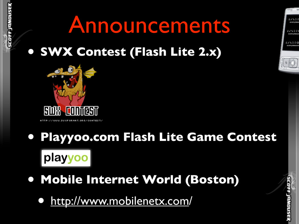 • SWX Contest (Flash Lite 2.x) • Playyoo.com Fl...