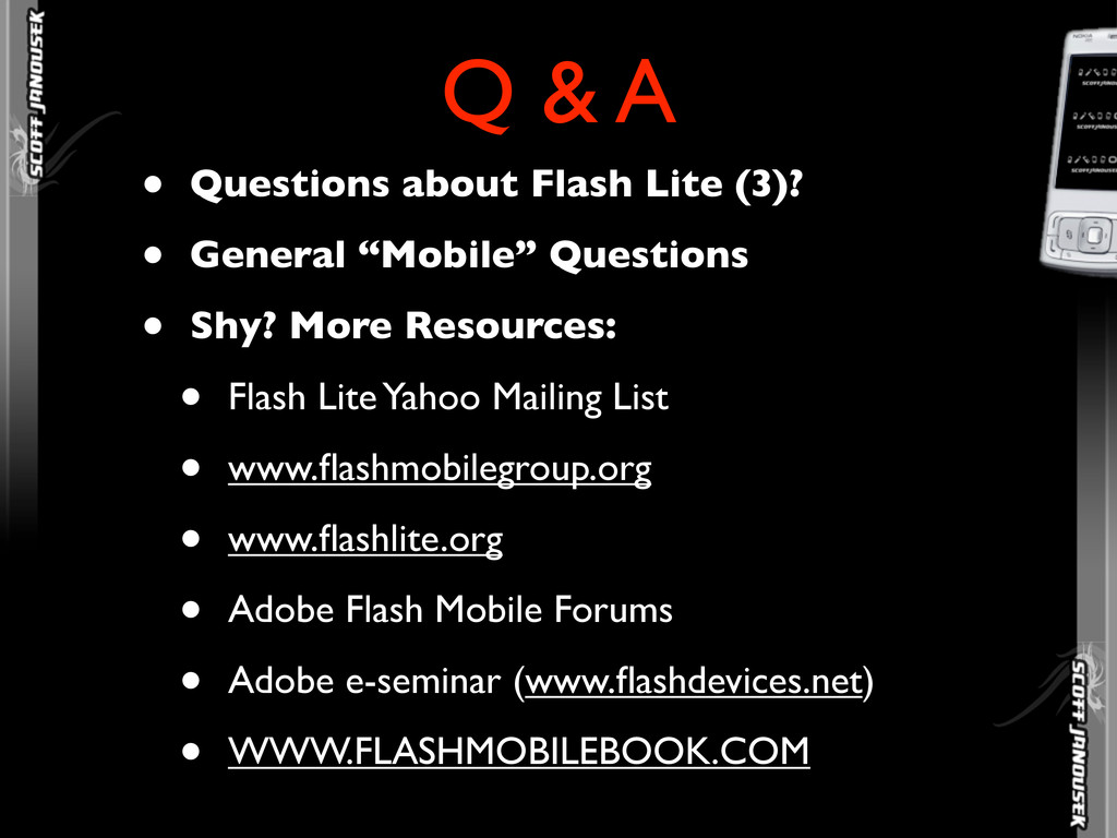 """• Questions about Flash Lite (3)? • General """"Mo..."""