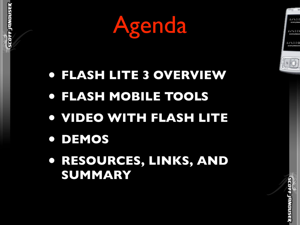 • FLASH LITE 3 OVERVIEW • FLASH MOBILE TOOLS • ...