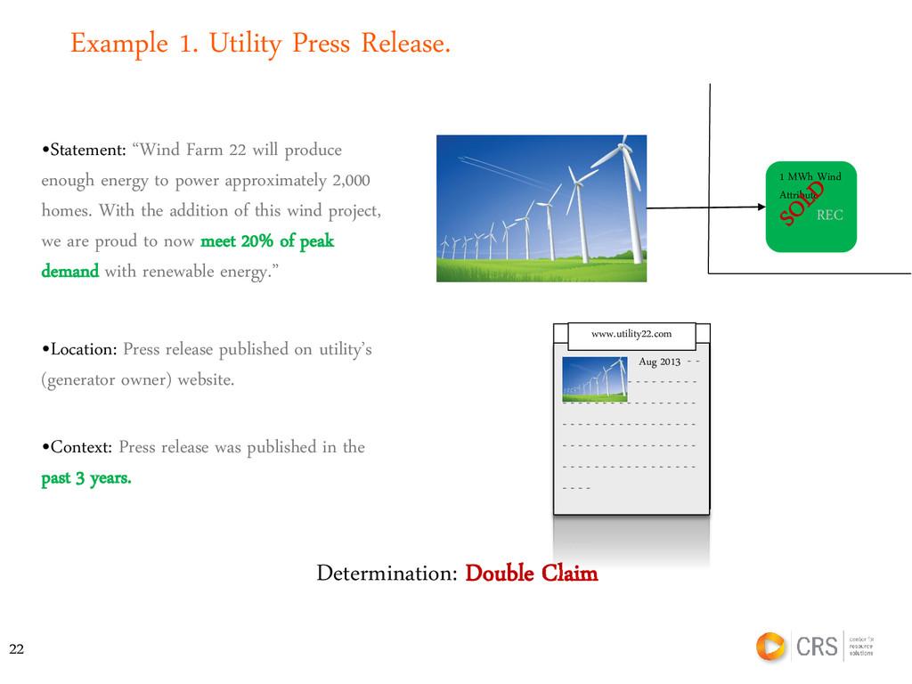 """•Statement: """"Wind Farm 22 will produce enough e..."""
