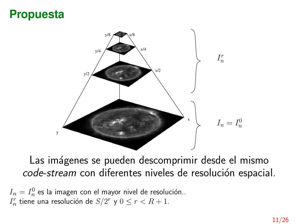 Propuesta x/8 y/8 y/4 x/4 x/2 y/2 x y In = I0 n...
