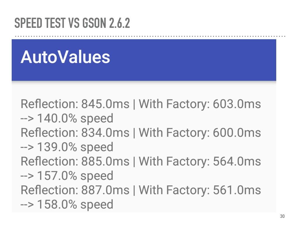 SPEED TEST VS GSON 2.6.2 30