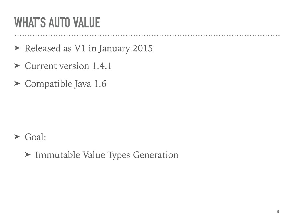 WHAT'S AUTO VALUE ➤ Released as V1 in January 2...