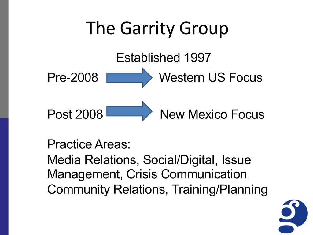 The Garrity Group Established 1997 Pre-2008 Wes...