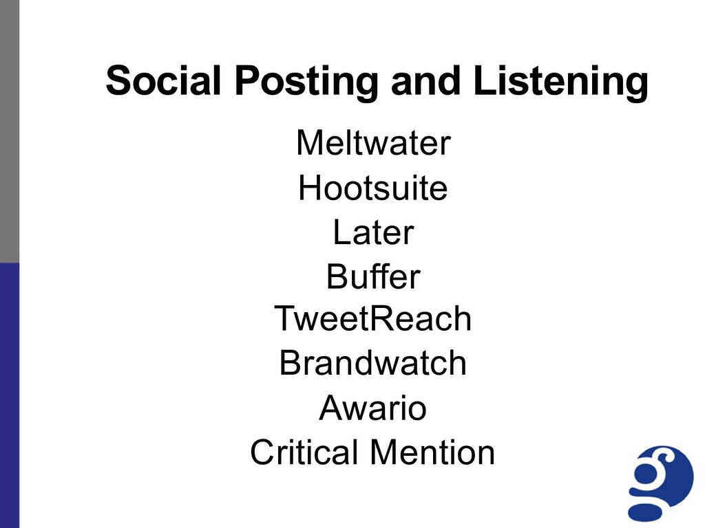 Social Posting and Listening Meltwater Hootsuit...