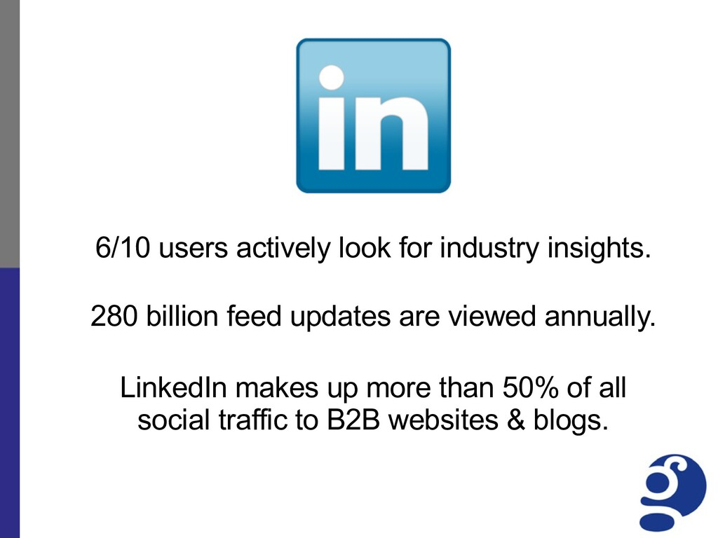 6/10 users actively look for industry insights....
