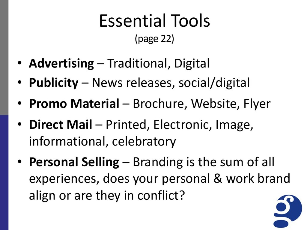 Essential Tools (page 22) • Advertising – Tradi...