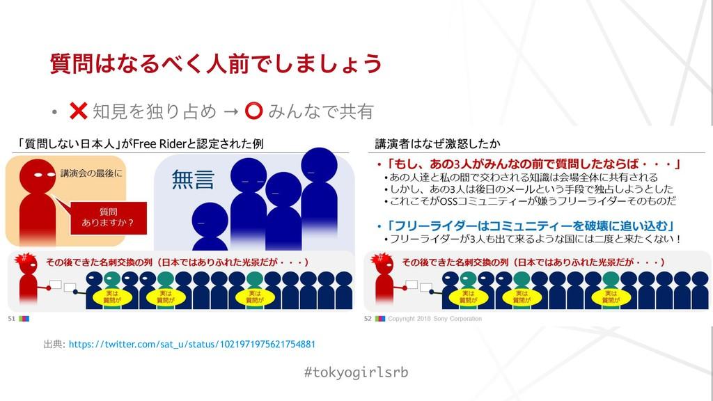 ࣭ͳΔ͘ਓલͰ͠·͠ΐ͏ • ❌ ݟΛಠΓΊ → ⭕ ΈΜͳͰڞ༗ #tokyogi...
