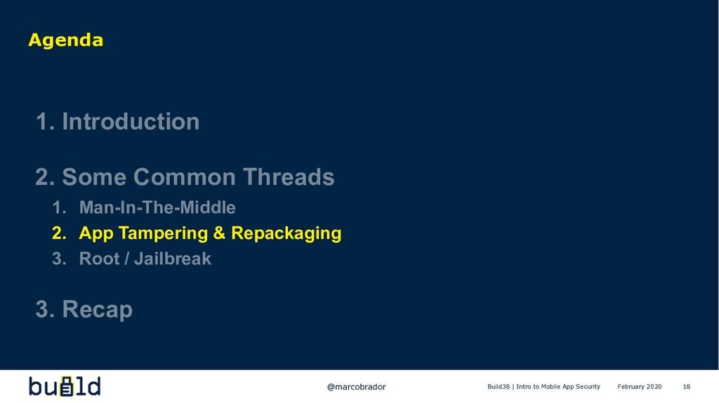 18 Agenda 1. Introduction 2. Some Common Thread...