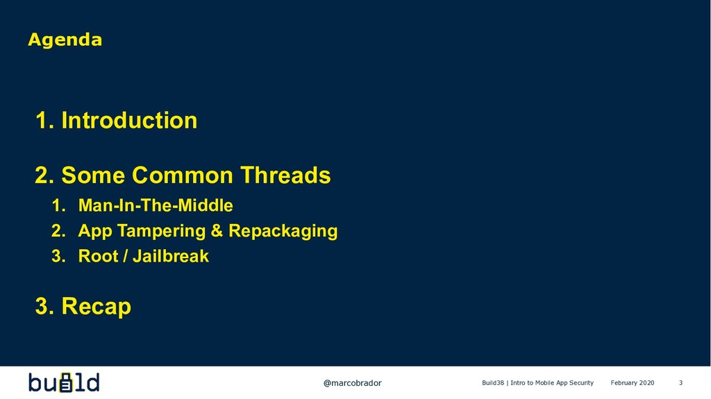 3 Agenda 1. Introduction 2. Some Common Threads...
