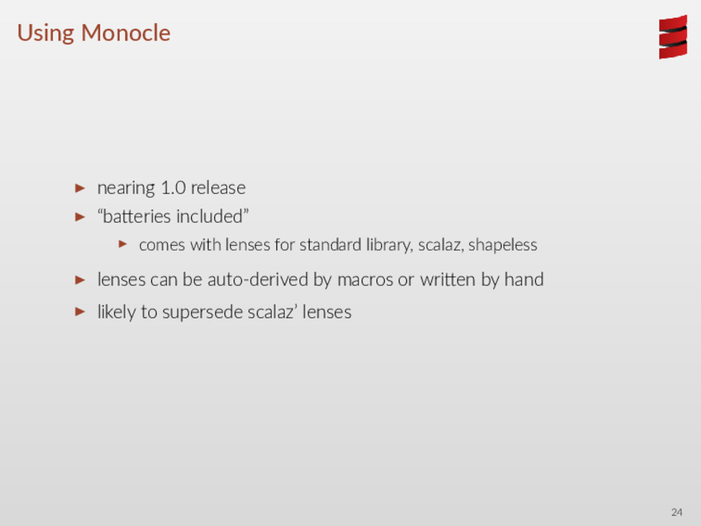 "Using Monocle ▶ nearing 1.0 release ▶ ""ba eries..."