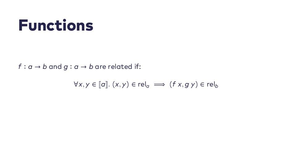 F u n c t i o n s f ∶ a → b a n d g ∶ a → b a r...