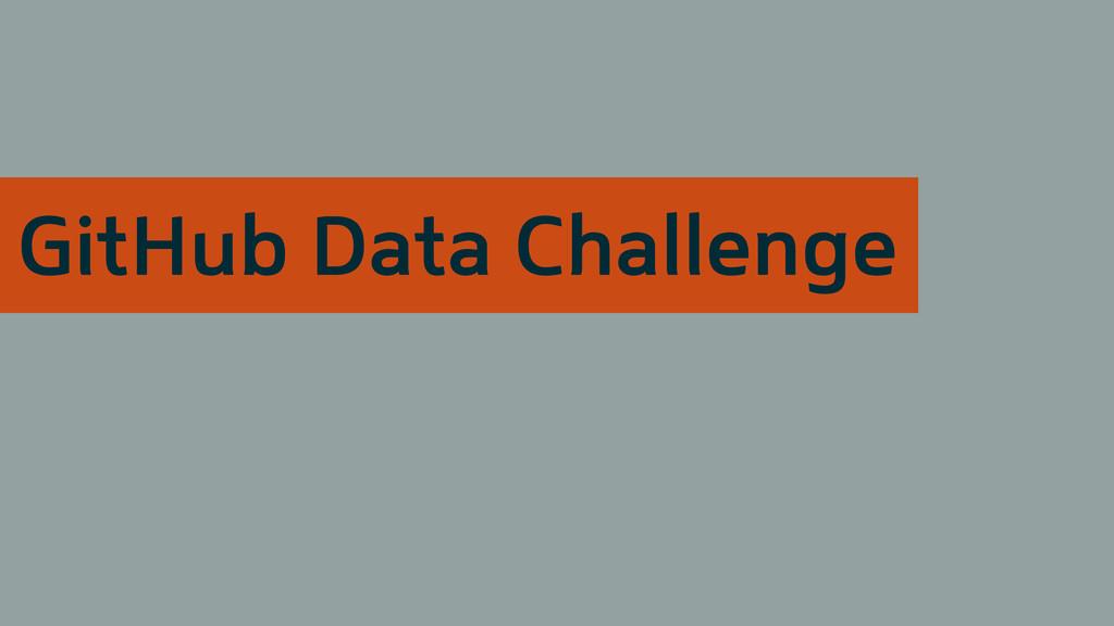 GitHub Data Challenge