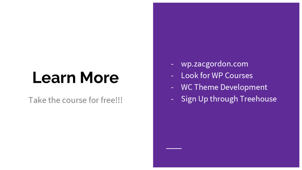 Learn More Take the course for free!!! - wp.zac...