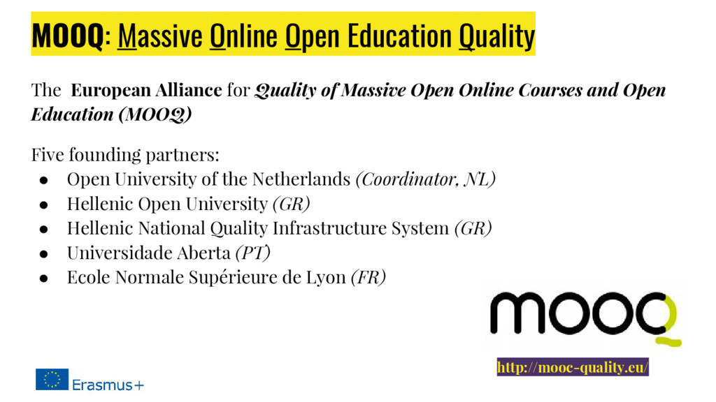 MOOQ: Massive Online Open Education Quality The...