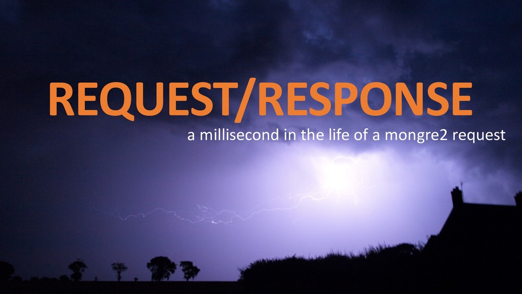 REQUEST/RESPONSE a millisecond in the life of a...