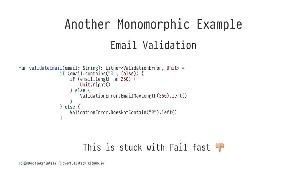 Another Monomorphic Example Email Validation fu...