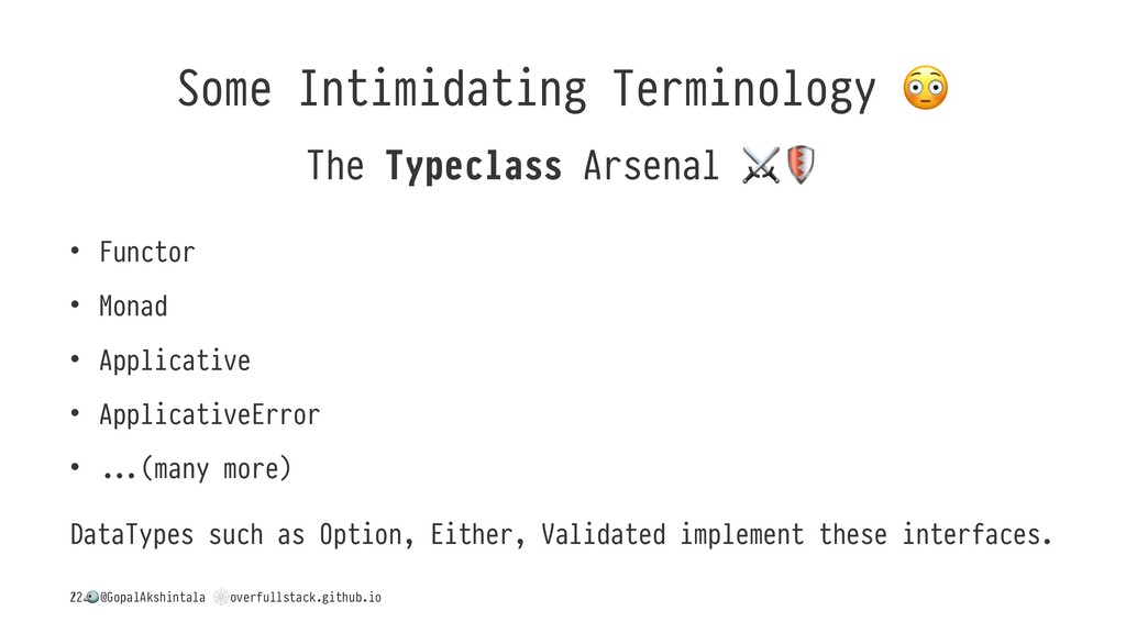 Some Intimidating Terminology The Typeclass Ars...