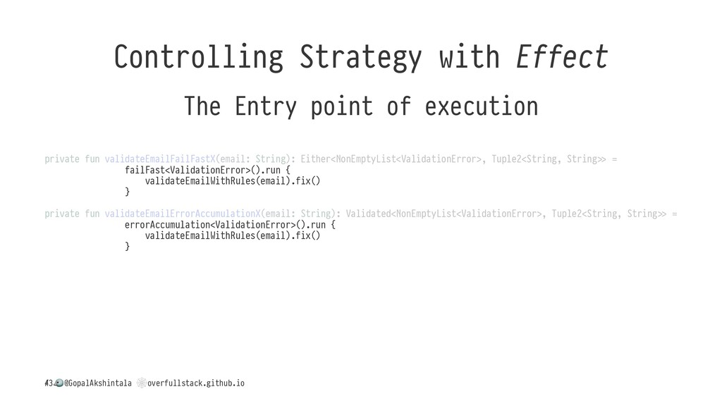 Controlling Strategy with Effect The Entry poin...