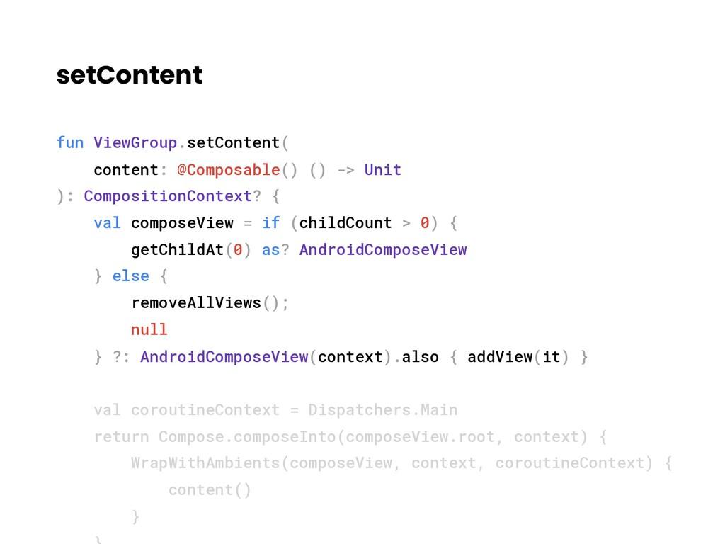 setContent fun ViewGroup.setContent( content: @...