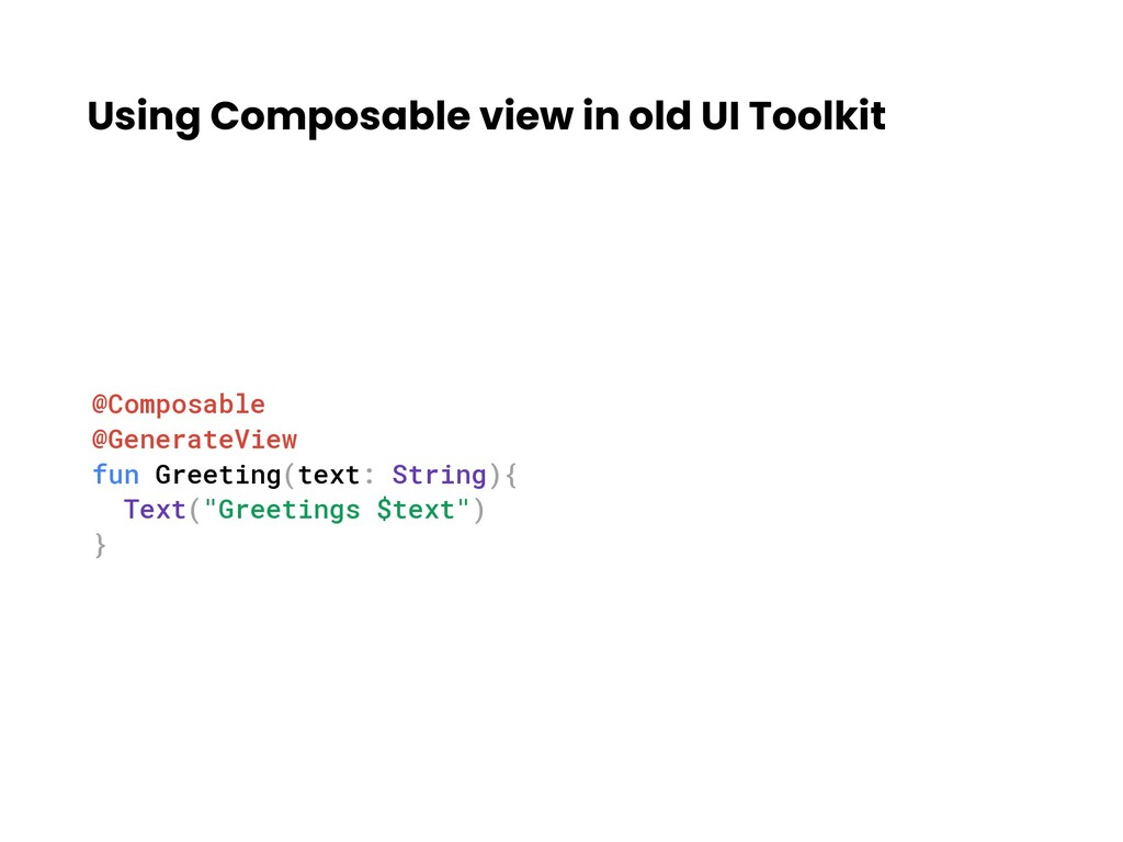 Using Composable view in old UI Toolkit @Compos...