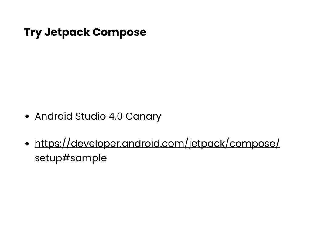 Try Jetpack Compose • Android Studio 4.0 Canary...