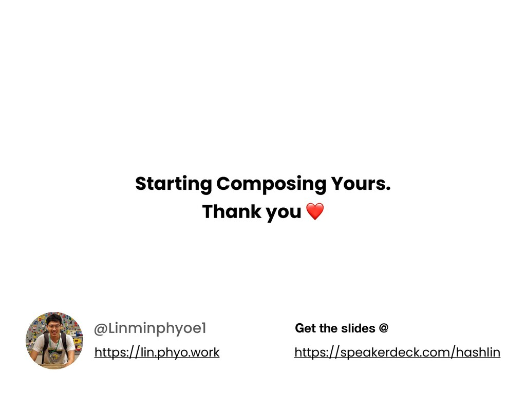 Starting Composing Yours. Thank you ❤ @Linminph...