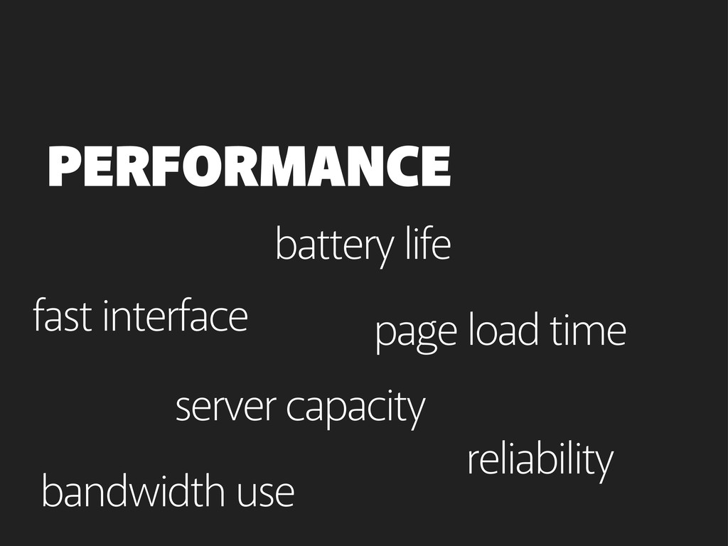page load time PERFORMANCE bandwidth use batter...