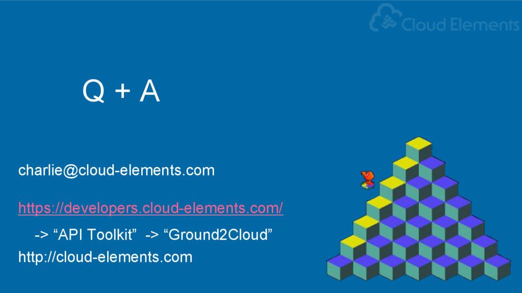 Q + A charlie@cloud-elements.com https://develo...