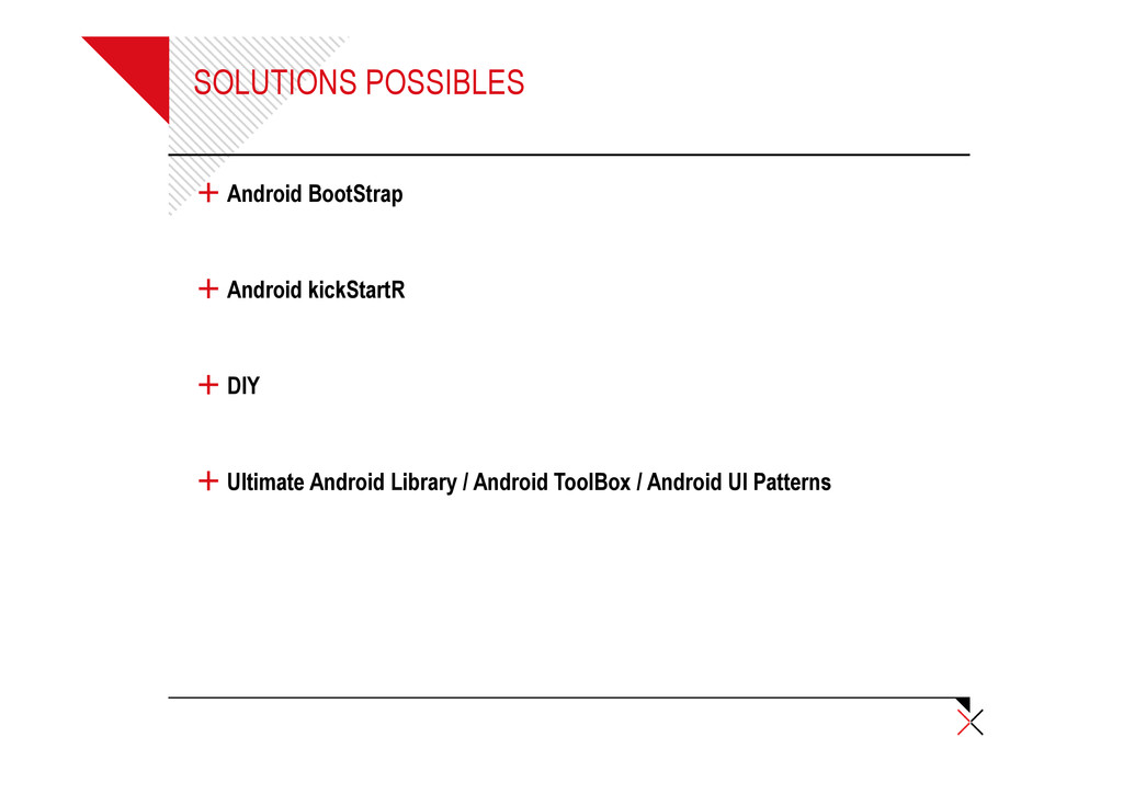 SOLUTIONS POSSIBLES + Android BootStrap + Andro...