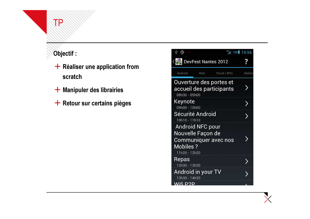 TP Objectif : + Réaliser une application from s...