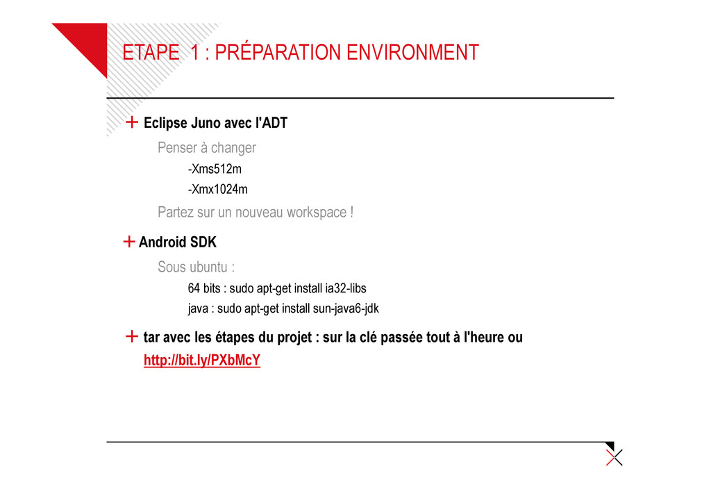 ETAPE 1 : PRÉPARATION ENVIRONMENT + Eclipse Jun...