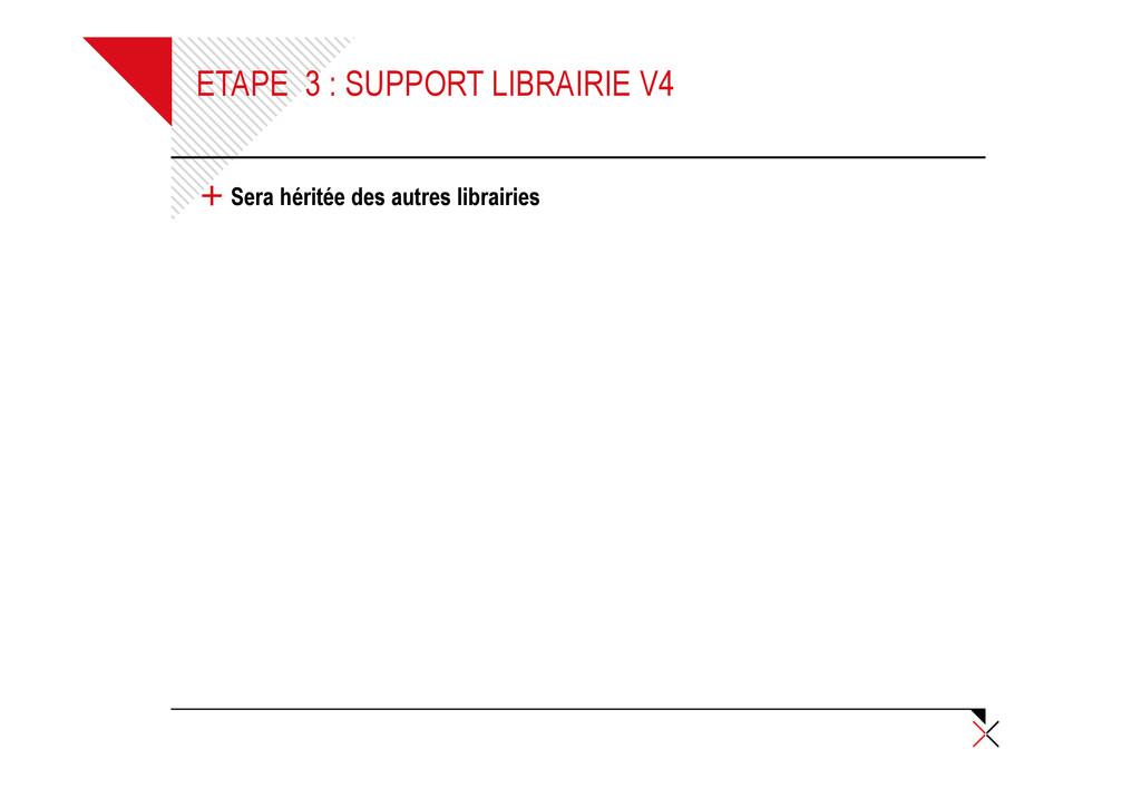 ETAPE 3 : SUPPORT LIBRAIRIE V4 + Sera héritée d...