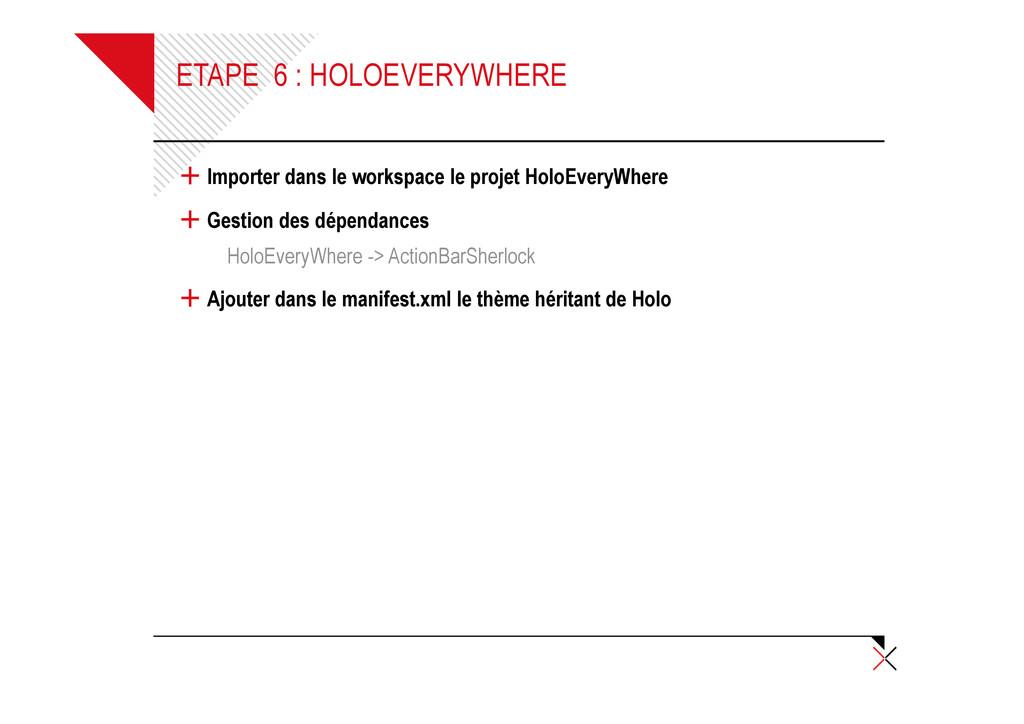 ETAPE 6 : HOLOEVERYWHERE + Importer dans le wor...