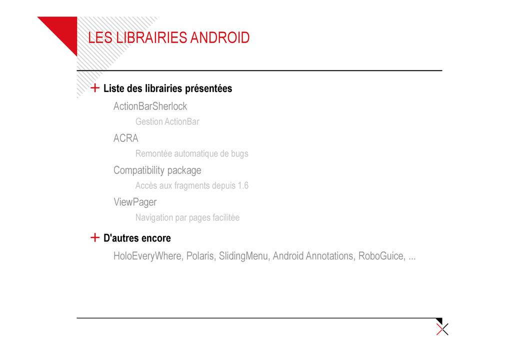 LES LIBRAIRIES ANDROID + Liste des librairies p...