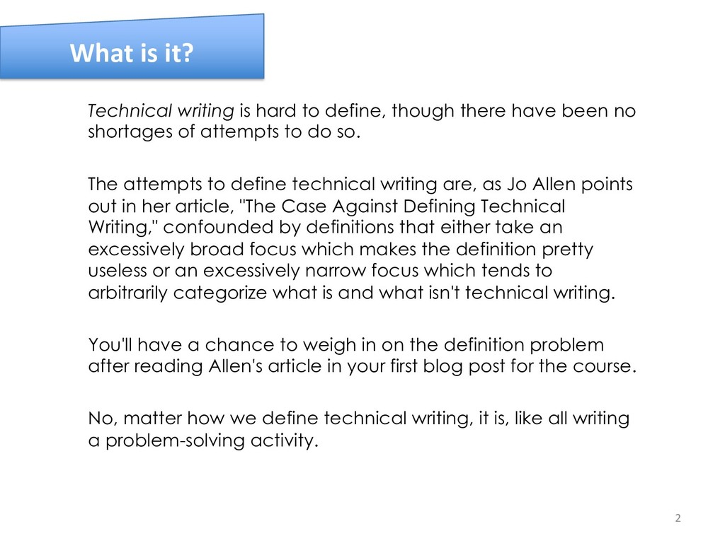 Technical writing is hard to define, though the...