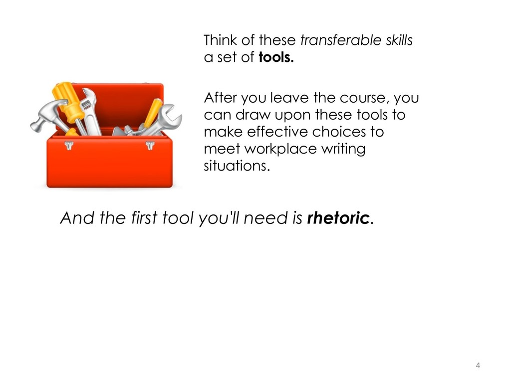 Think of these transferable skills a set of too...