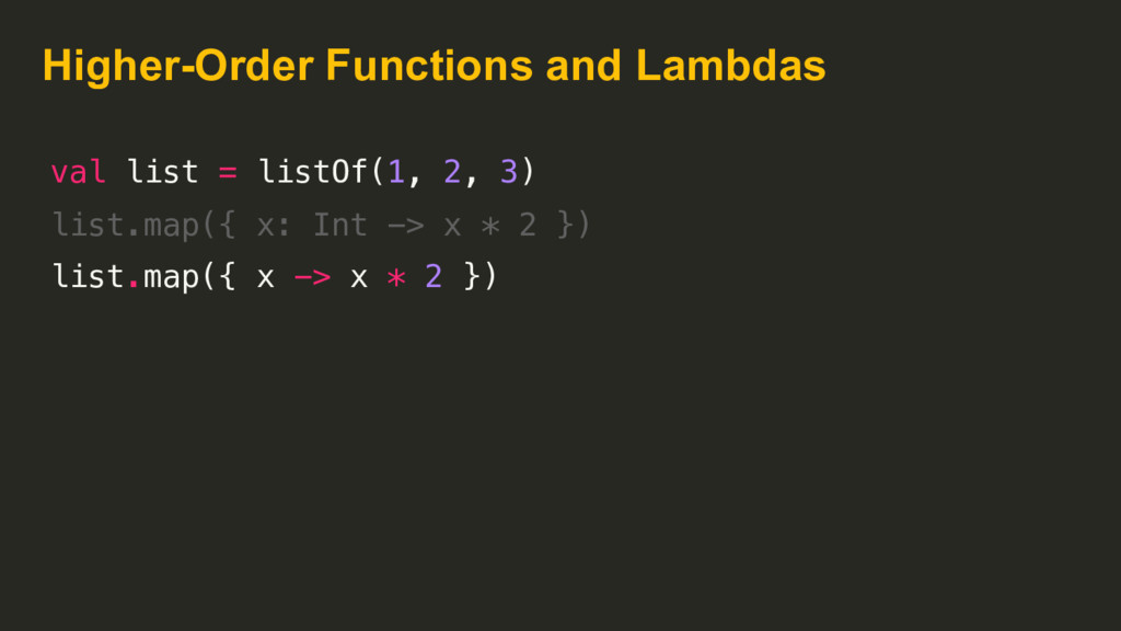 Higher-Order Functions and Lambdas val list = l...