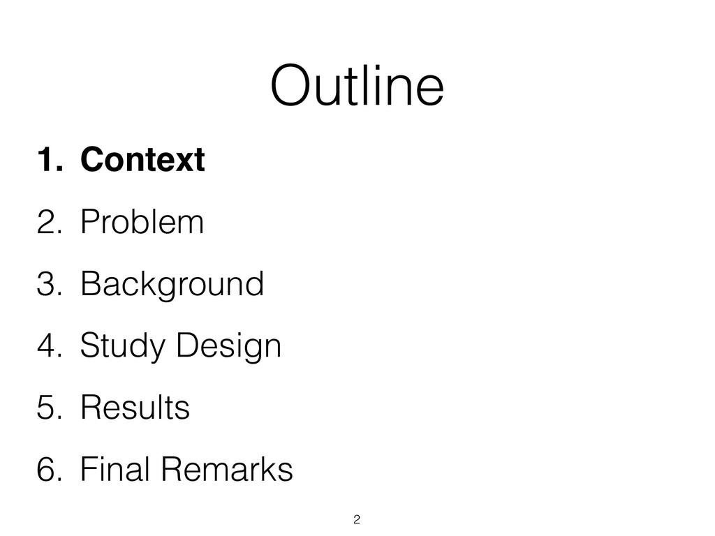 Outline 1. Context 2. Problem 3. Background 4. ...