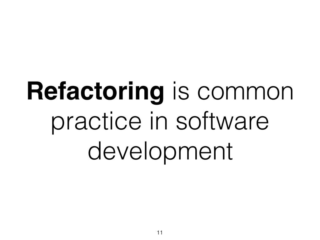 Refactoring is common practice in software deve...
