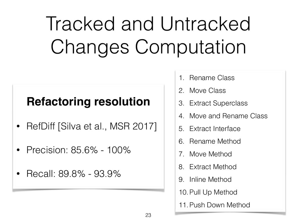 Tracked and Untracked Changes Computation Refac...