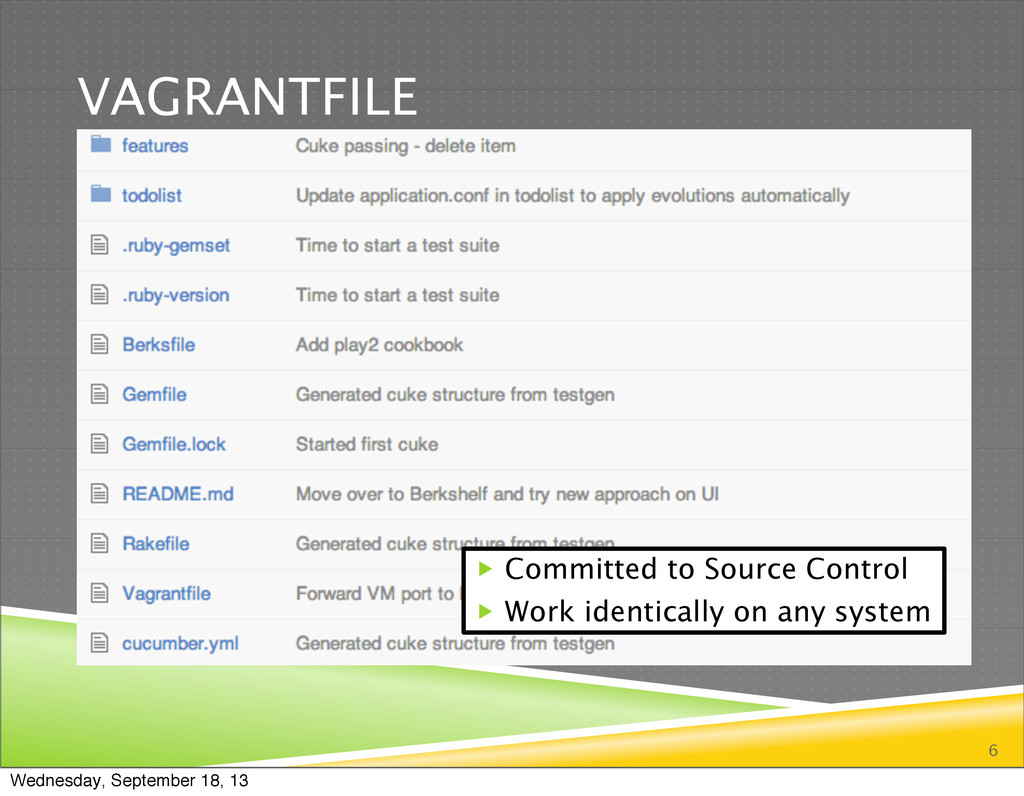 VAGRANTFILE 6  Committed to Source Control  W...