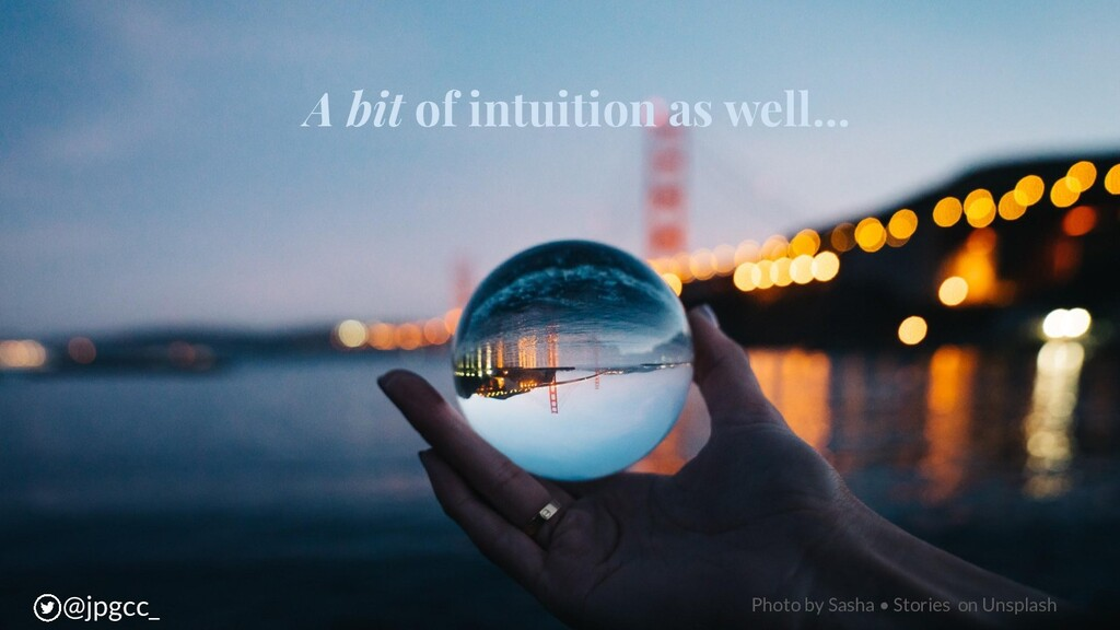A bit of intuition as well... @jpgcc_ Photo by ...