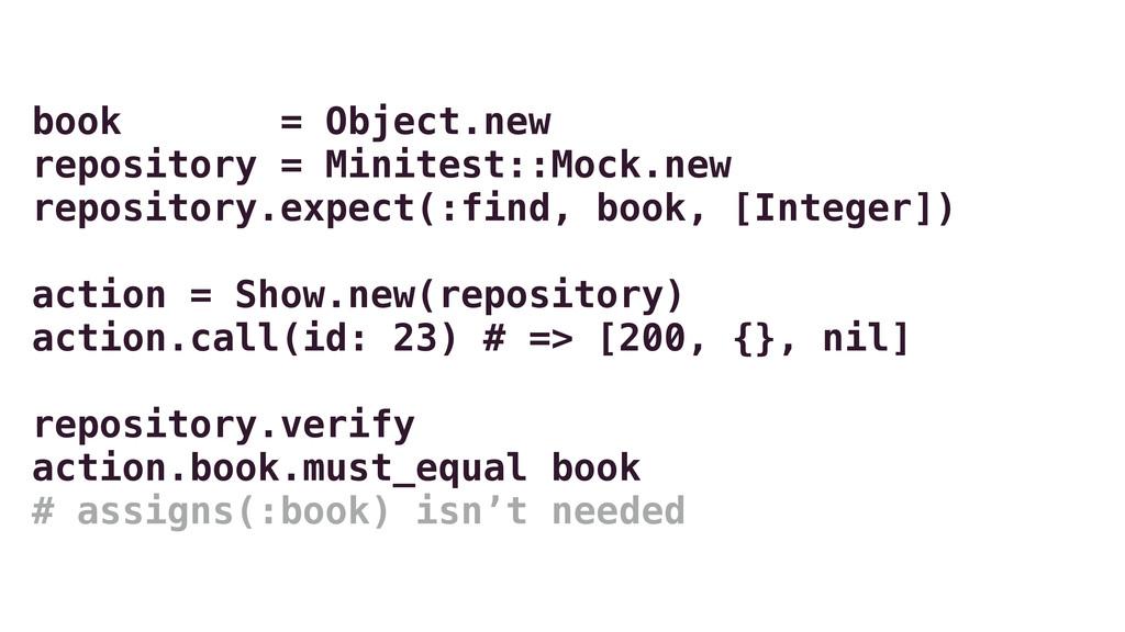 book = Object.new repository = Minitest::Mock.n...