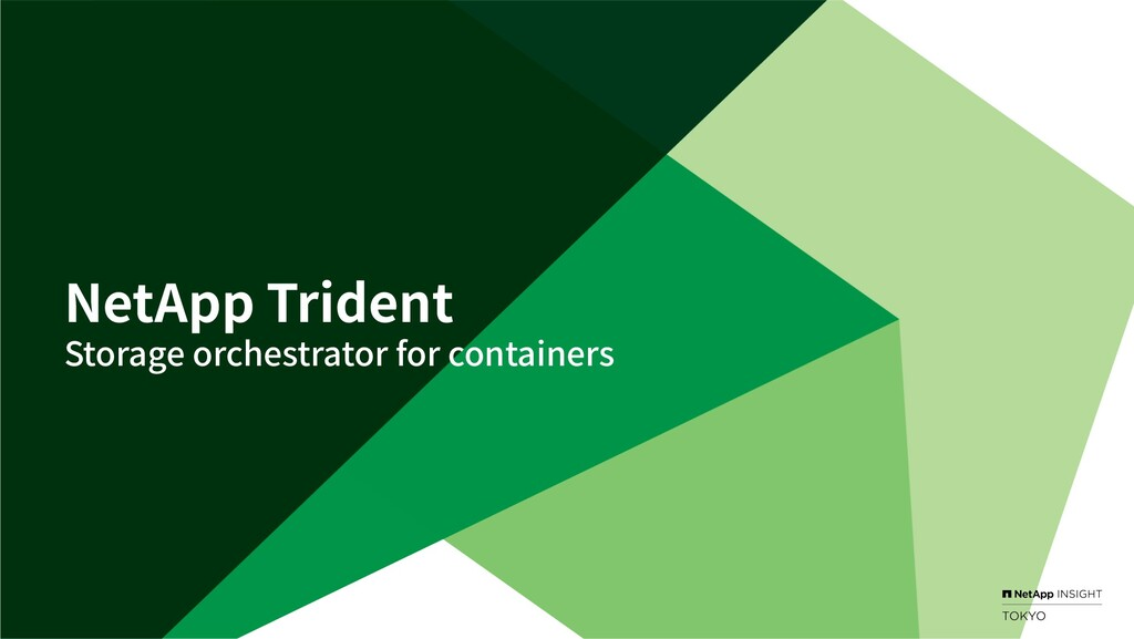 NetApp Trident Storage orchestrator for contain...