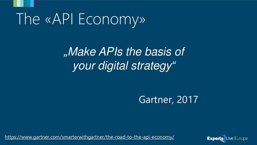 """The «API Economy» """"Make APIs the basis of your ..."""