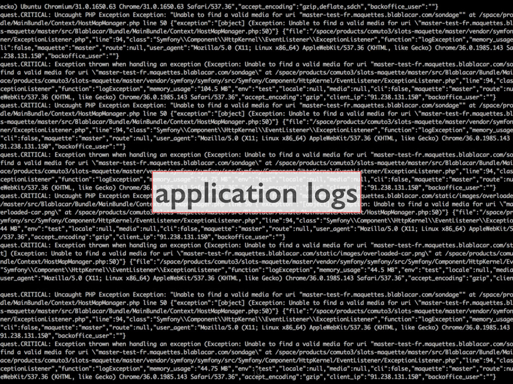 application logs 10